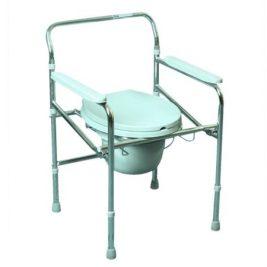 Кресло-туалет складное со спинкой