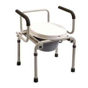 Кресло-туалет складное со спинкой Е0802