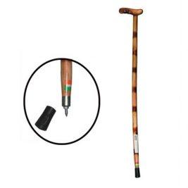 Трость с Т-образной деревянной рукоятью и УПС (90см)