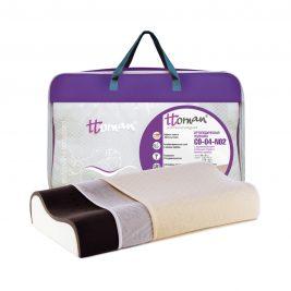 Подушка ортопедическая Ttoman CO-04-NO.2 (12/10) с карбоновым слоем и ионами серебра, средняя