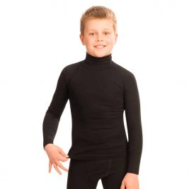 Футболка с высоким воротником и длинным рукавом для мальчика  FC154