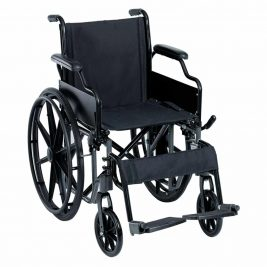 Кресло-коляска с откидными подлокотниками и съемными подножками, складная Тривес CA991LB