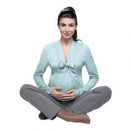 Компрессионные колготки TREND VENOTEKS 2C405 для беременных, 2 класс, закрытый носок, тонкие, прозрачные