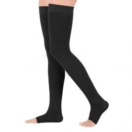 Компрессионные чулки Classic VENOTEKS 3C213, 3 класс, открытый носок, силиконовая резинка, матовые