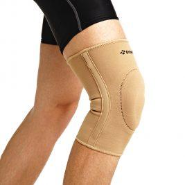 Бандаж на колено эластичный с фиксирующей подушкой и ребрами Orlett EKN-212
