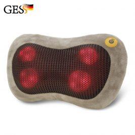 Массажная подушка для шеи и плеч GESS uShiatsu с подогревом