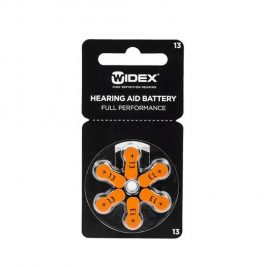 Батарейки для слуховых аппаратов воздушно-цинковые Widex тип 13, 6 шт.